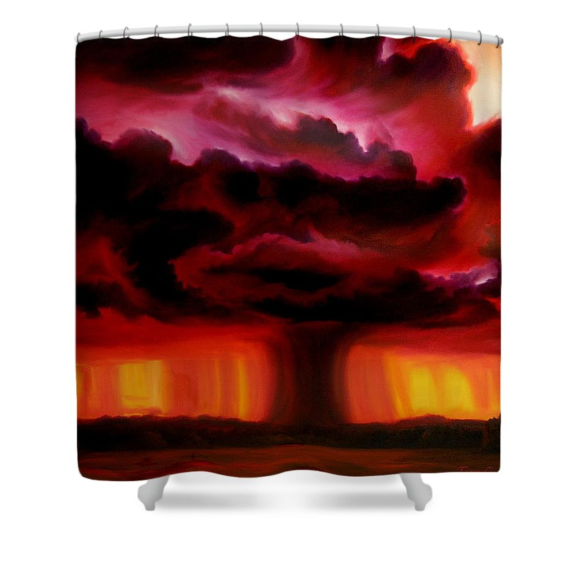 Skyscape Shower Curtain featuring the painting Microburst by James Christopher Hill
