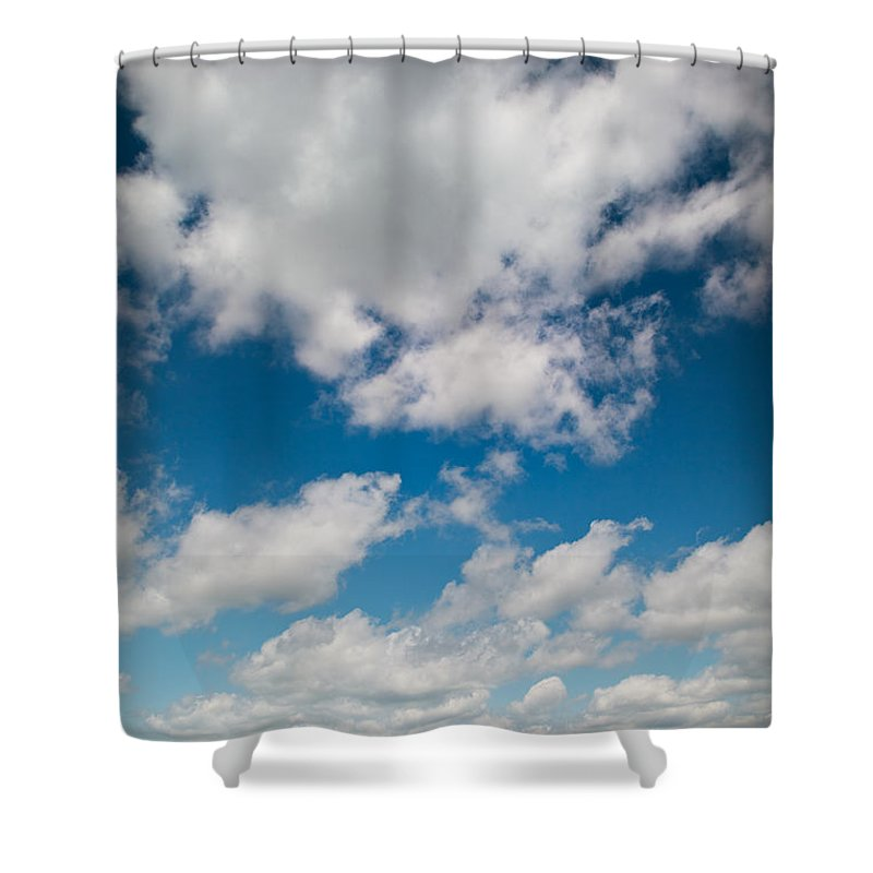 Blue Shower Curtain featuring the photograph Midwest Corn Field by Steve Gadomski