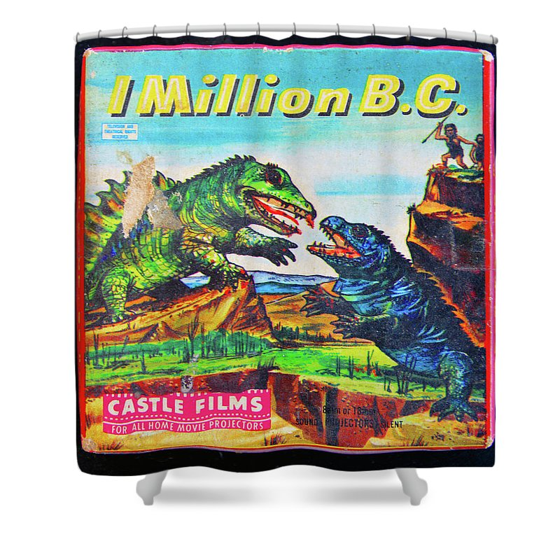 One Million Bc Movie 1940 Shower Curtain featuring the photograph 1 Million Bc 1940 by David Lee Thompson