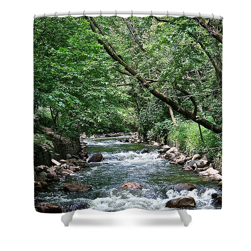 Outdoors Shower Curtain featuring the photograph Minnehaha Creek by Susan Herber