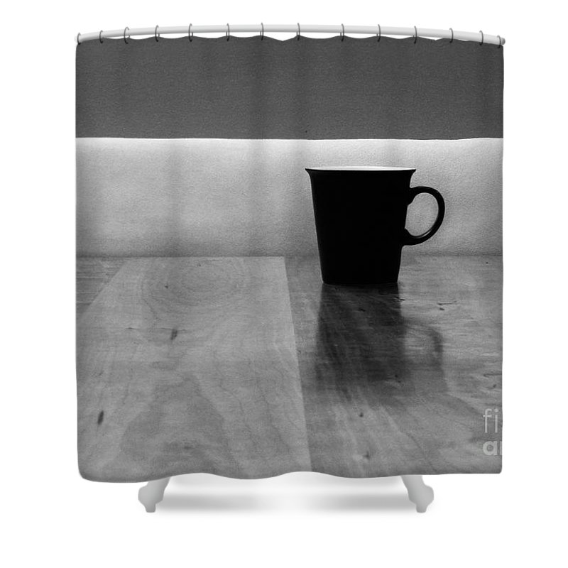 Black Shower Curtain featuring the photograph Missing by Dana DiPasquale