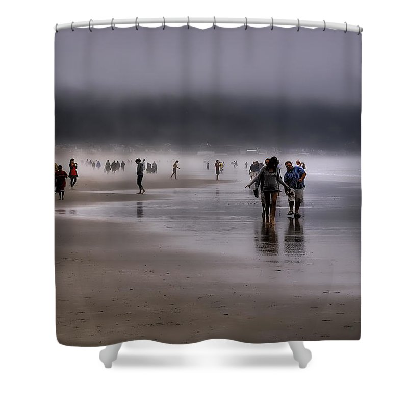 Mist Shower Curtain featuring the photograph Misty Beach by David Patterson