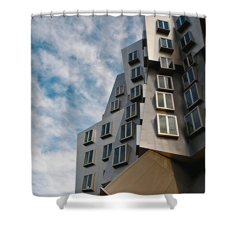 Architecture Shower Curtain featuring the photograph MIT by Donna Shahan