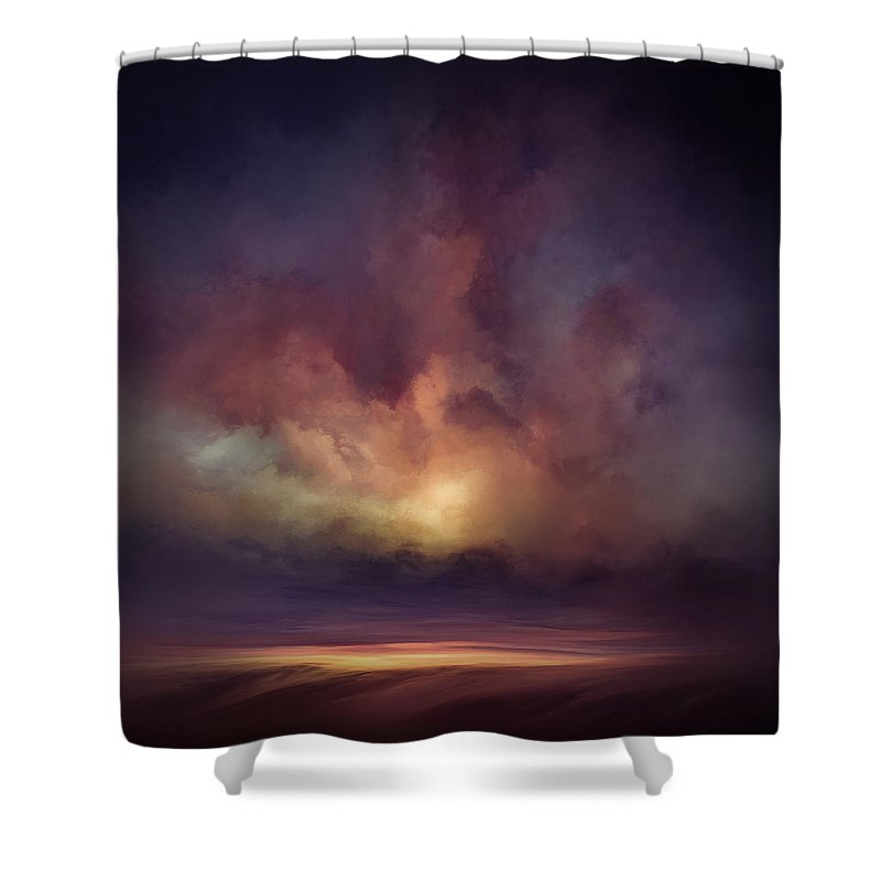 Lc Bailey Shower Curtain featuring the mixed media Morning Sunrise by Lonnie Christopher