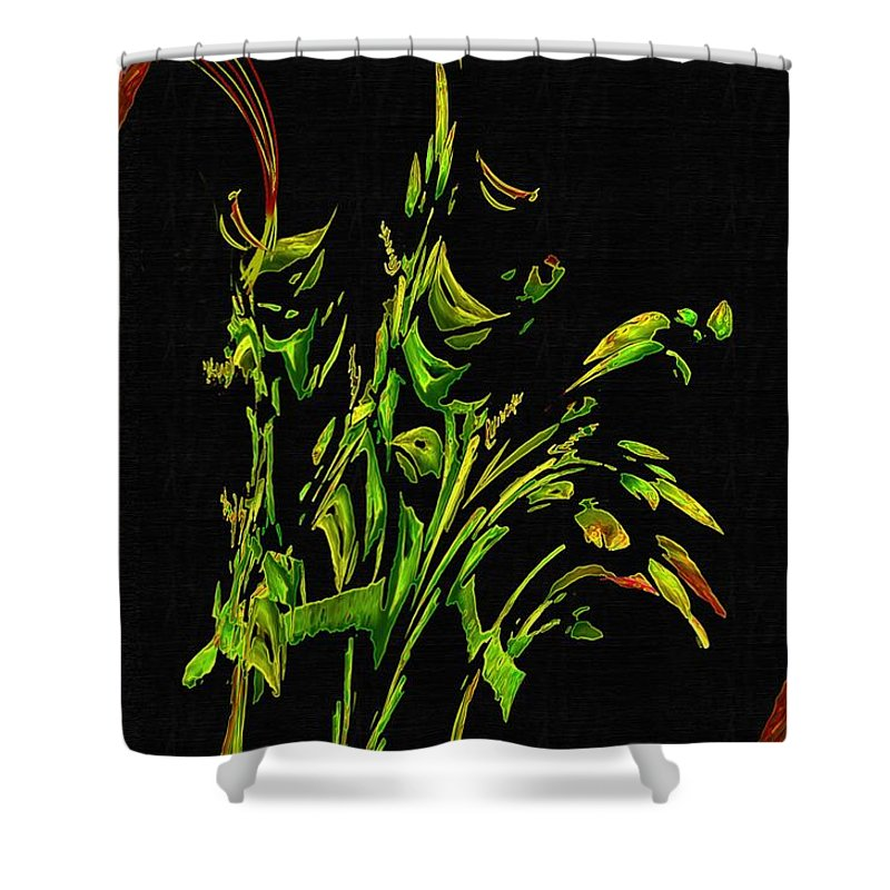 Asian Shower Curtain featuring the painting Motif Japonica No. 5 by RC DeWinter