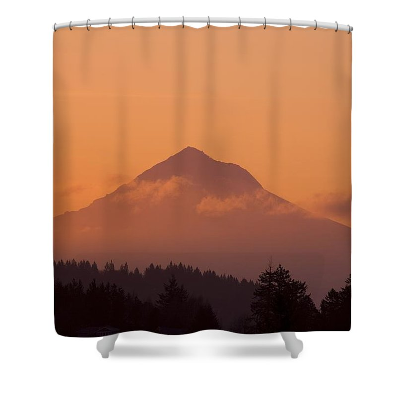 Beauty In Nature Shower Curtain featuring the photograph Mount Hood, Oregon, Usa by Craig Tuttle