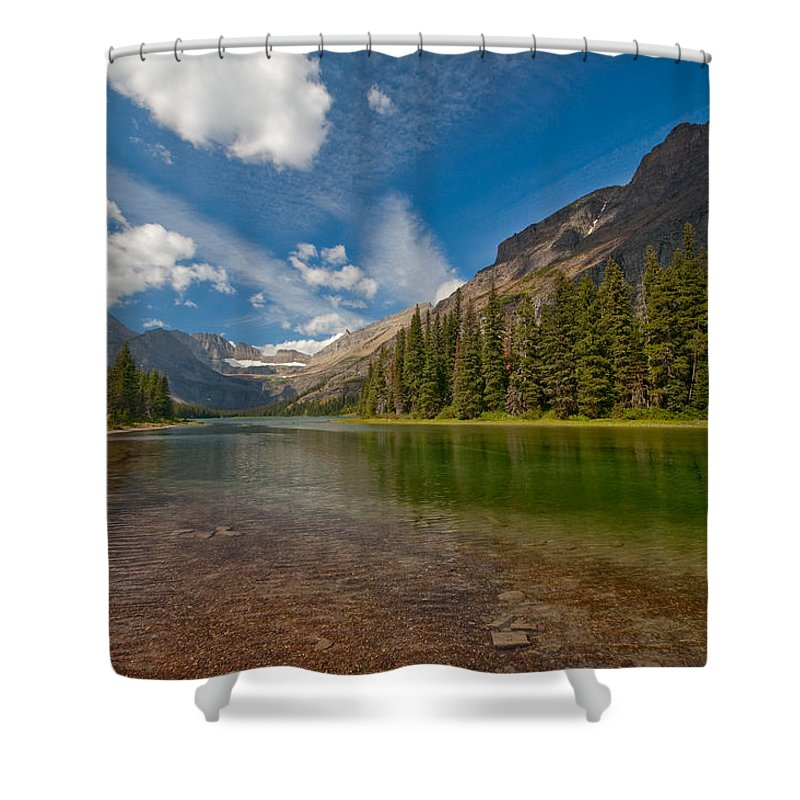 Nature Shower Curtain featuring the photograph Moutain Lake by Sebastian Musial