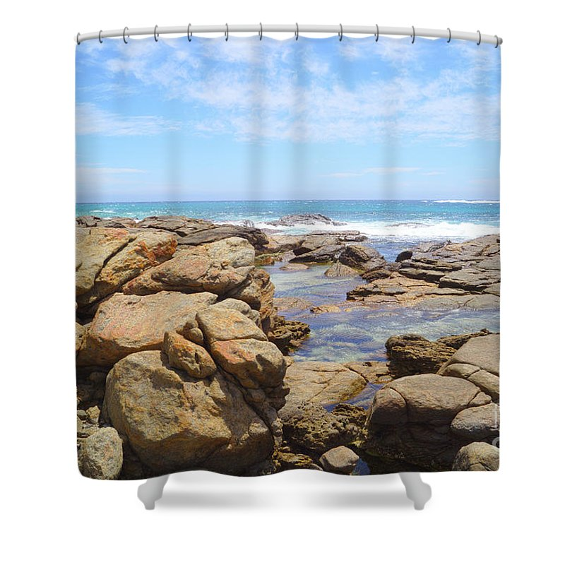 Mouth Of Margaret River Beach Shower Curtain featuring the photograph Mouth Of Margaret River Beach IIi by Cassandra Buckley