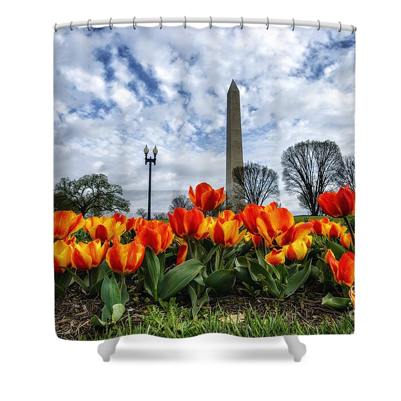 Tulip Library Shower Curtain featuring the photograph National Park Service Floral Library by Thomas R Fletcher