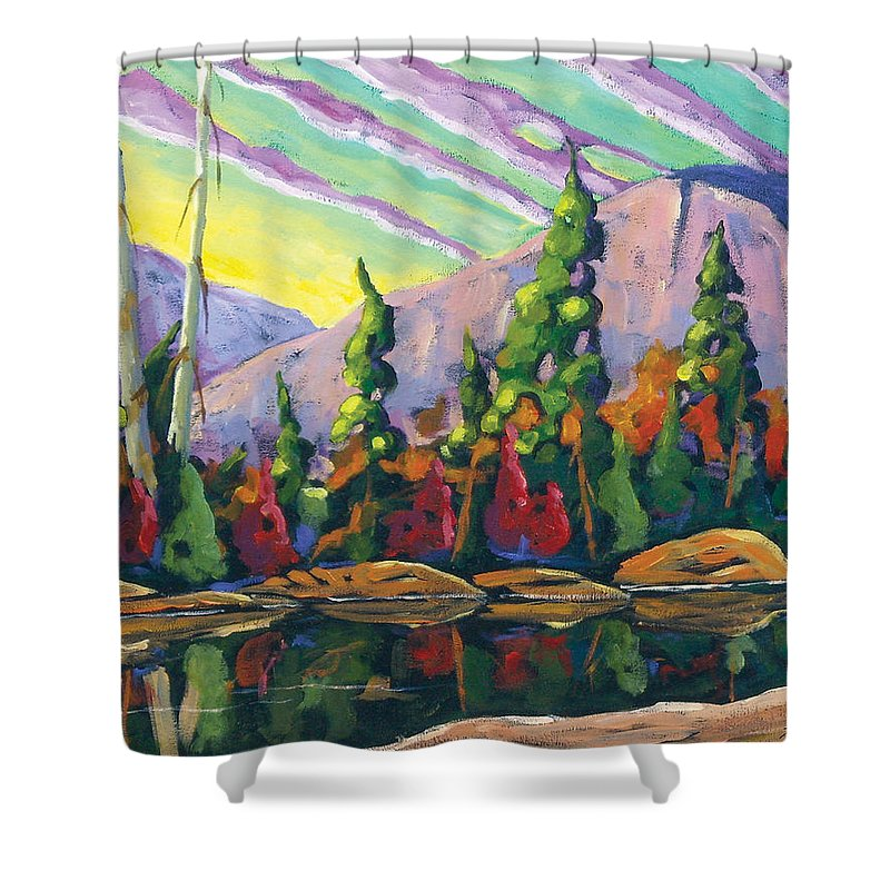 Art Shower Curtain featuring the painting Nature Expression by Richard T Pranke