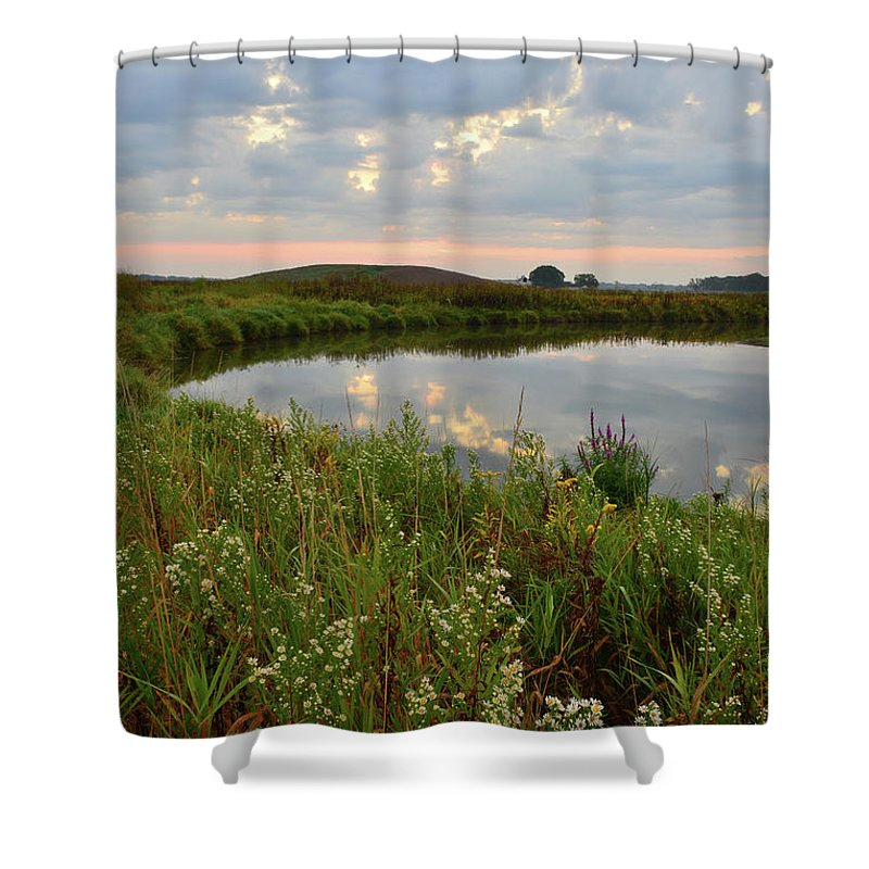 Glacial Park Shower Curtain featuring the photograph Nippersink Sunrise by Ray Mathis