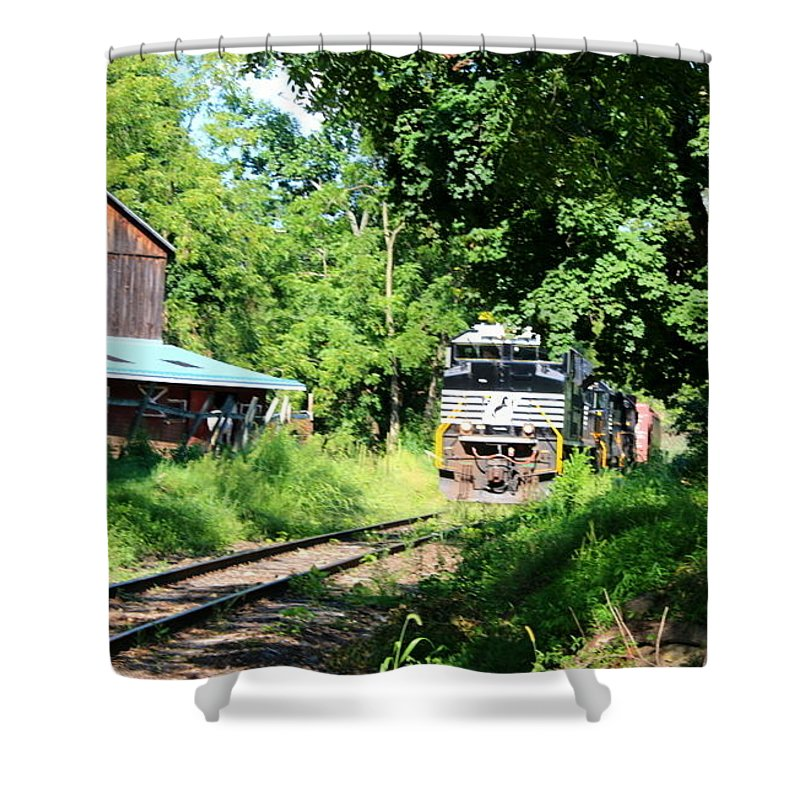 Norfolk Southern Engine Shower Curtain featuring the photograph Norfolk Southern by William Rogers