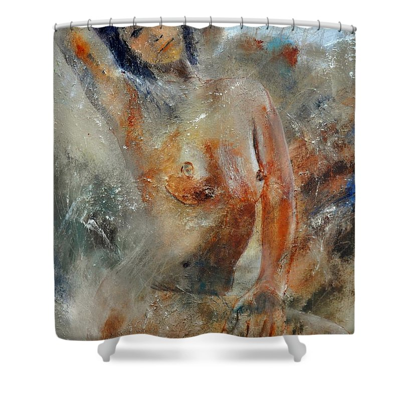Nude Shower Curtain featuring the painting Nude 450101 by Pol Ledent