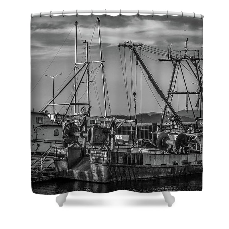 Fishing Boats Shower Curtain featuring the photograph Old Boats by Jason Brooks