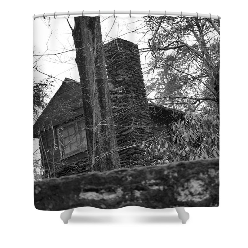 Shower Curtain featuring the photograph Old Shack by Gerald Kloss