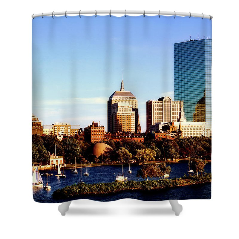 St. Charles Shower Curtain featuring the photograph On The Charles by Mountain Dreams