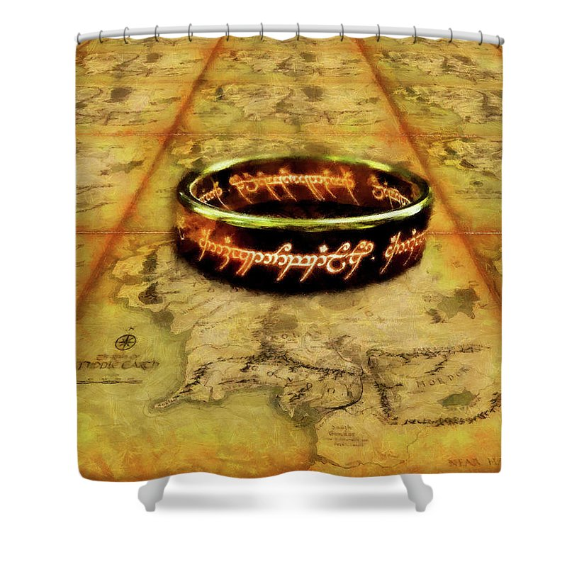 One Ring To Rule Them All Shower Curtain For Sale By Mario Carini