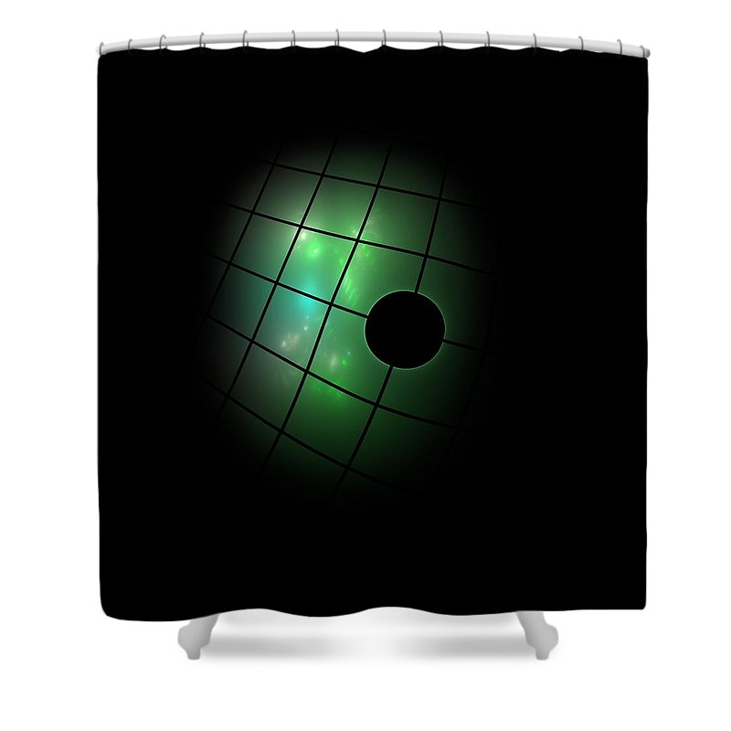 Dark Shower Curtain featuring the painting Out Of The Dark by Steve K