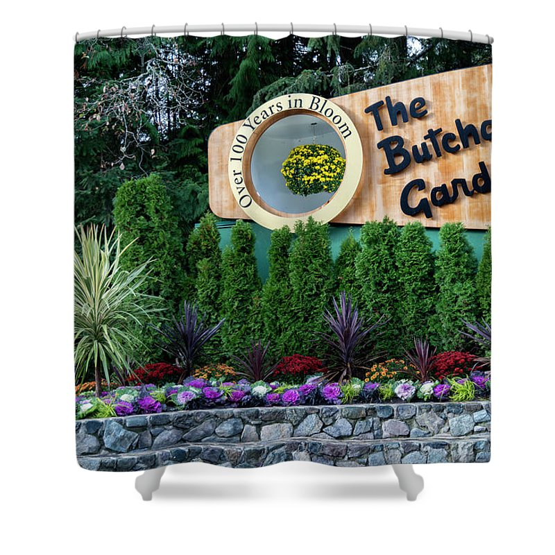 Outdoor Shower Curtain featuring the photograph Over 100 Yrs In Bloom, Historic Garden Icon, The Butchart Gardens. by Andrew Kim