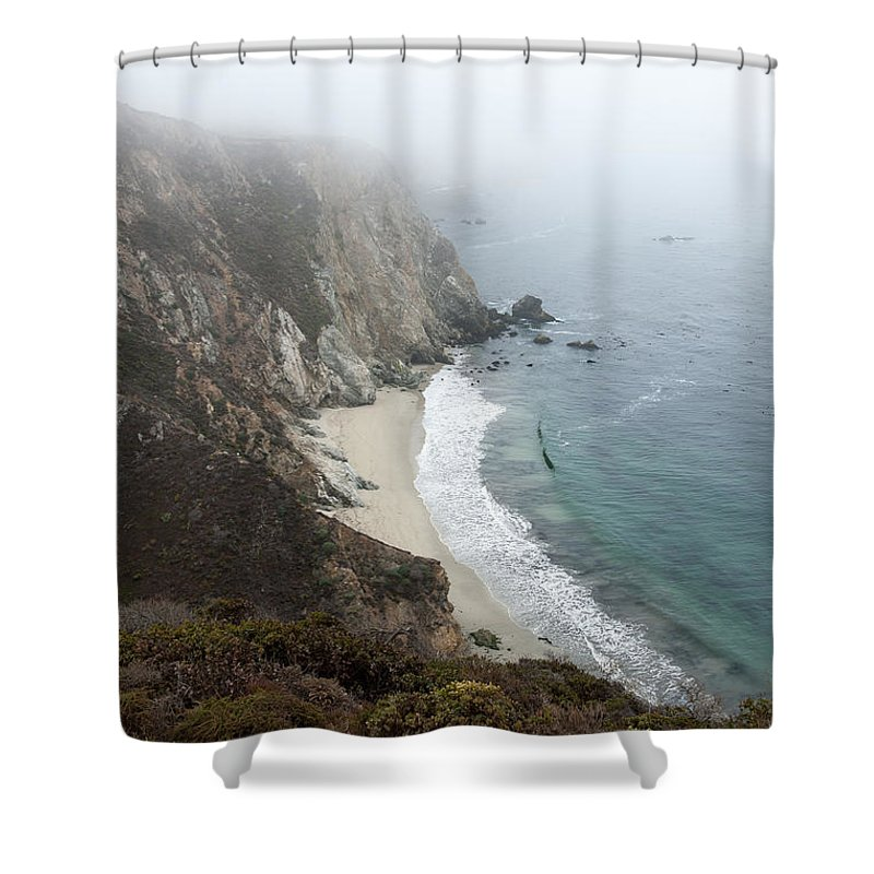 Coast Shower Curtain featuring the photograph Pacific Coast by Wim Slootweg