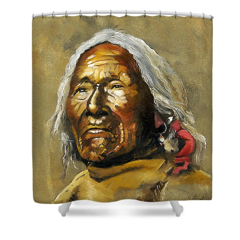 Southwest Art Shower Curtain featuring the painting Painted Sands Of Time by J W Baker