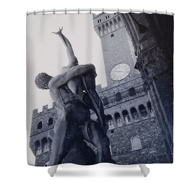 Florence Shower Curtain featuring the photograph Palazzo Vecchio by Kurt Hausmann