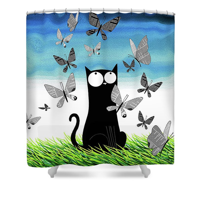 Blue Eyed Grass Shower Curtains