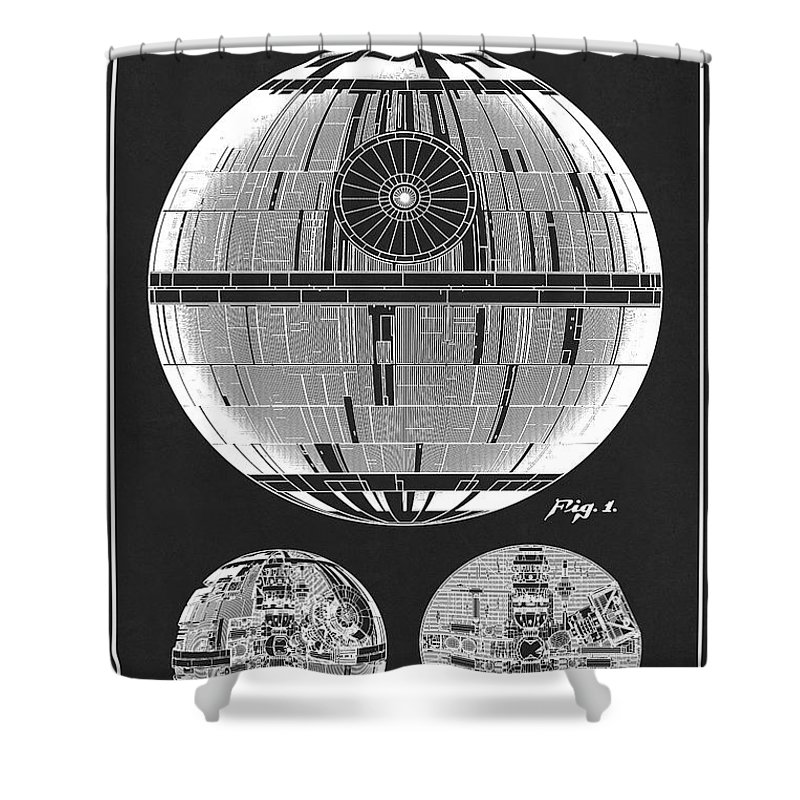 Star Wars Shower Curtain Featuring The Drawing Patent Illustration Replica For Death Ds
