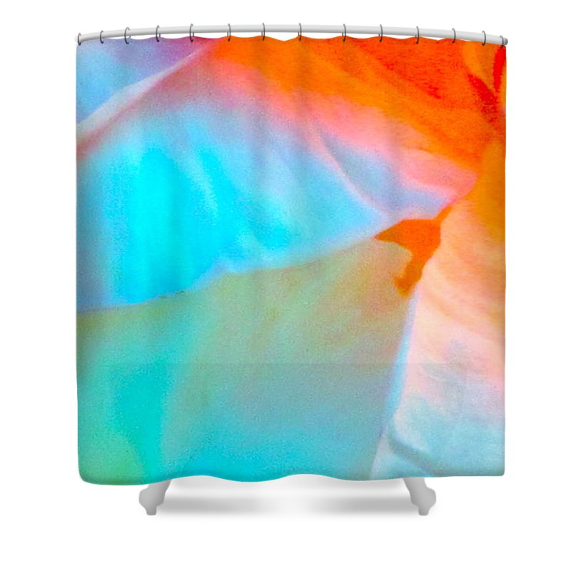 Photograph Shower Curtain featuring the photograph Petals by Gwyn Newcombe