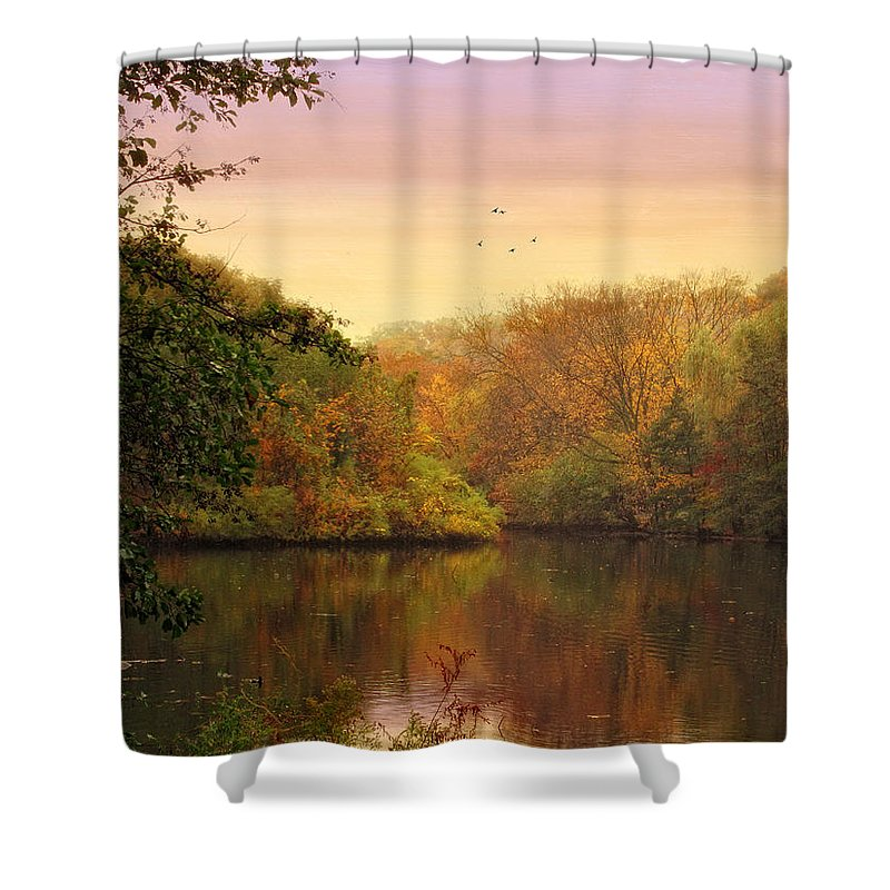 Pond Shower Curtain featuring the photograph Placid Pond by Jessica Jenney
