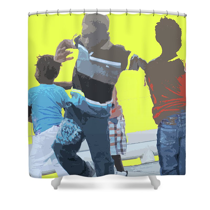 Children Shower Curtain featuring the photograph Play by Ian MacDonald