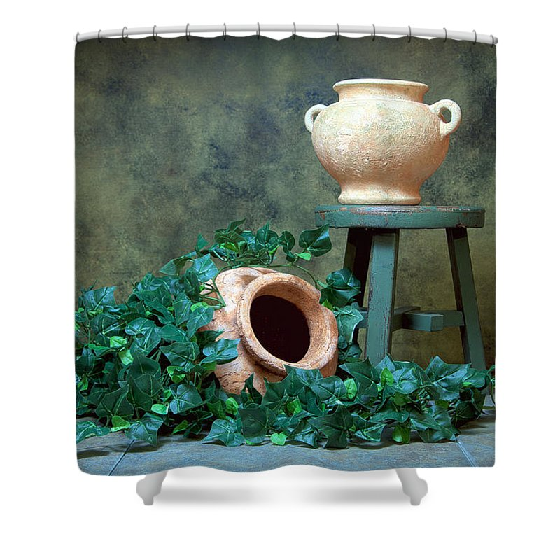 Pottery Shower Curtains