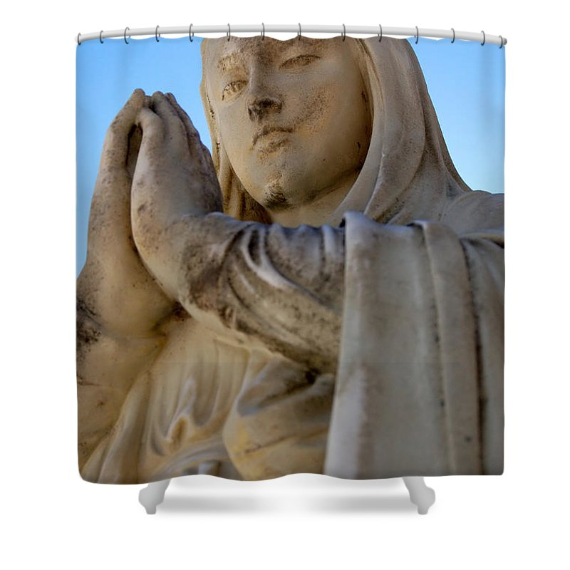Mary Shower Curtain featuring the photograph Prayer by Joe Ng