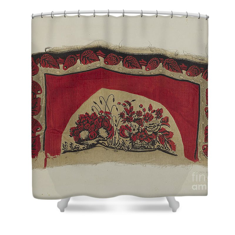 Shower Curtain featuring the drawing Printed Textiles by Ernest Capaldo