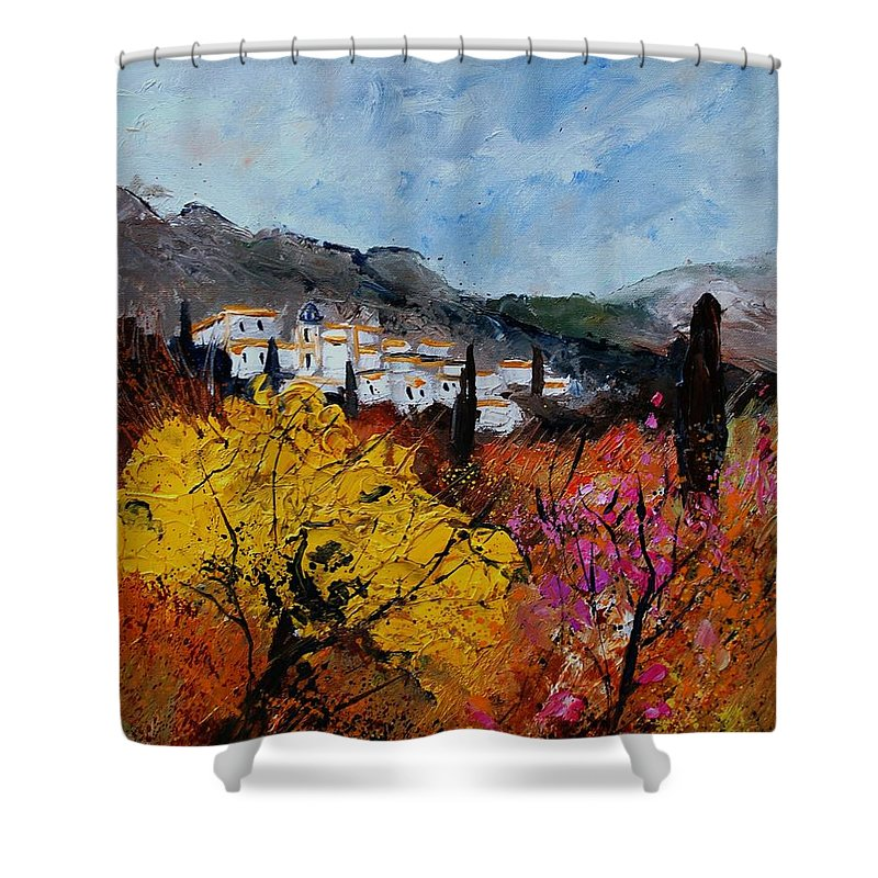 Provence Shower Curtain featuring the painting Provence by Pol Ledent