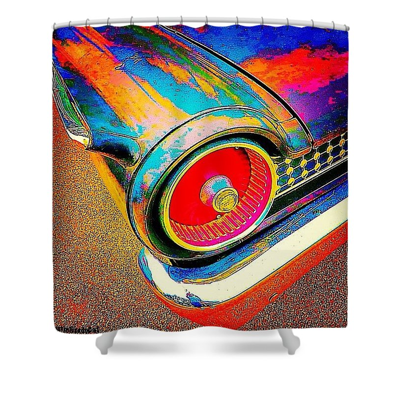 Beautiful Shower Curtain featuring the photograph #psychedelic Sunday. There Is Just by Austin Tuxedo Cat