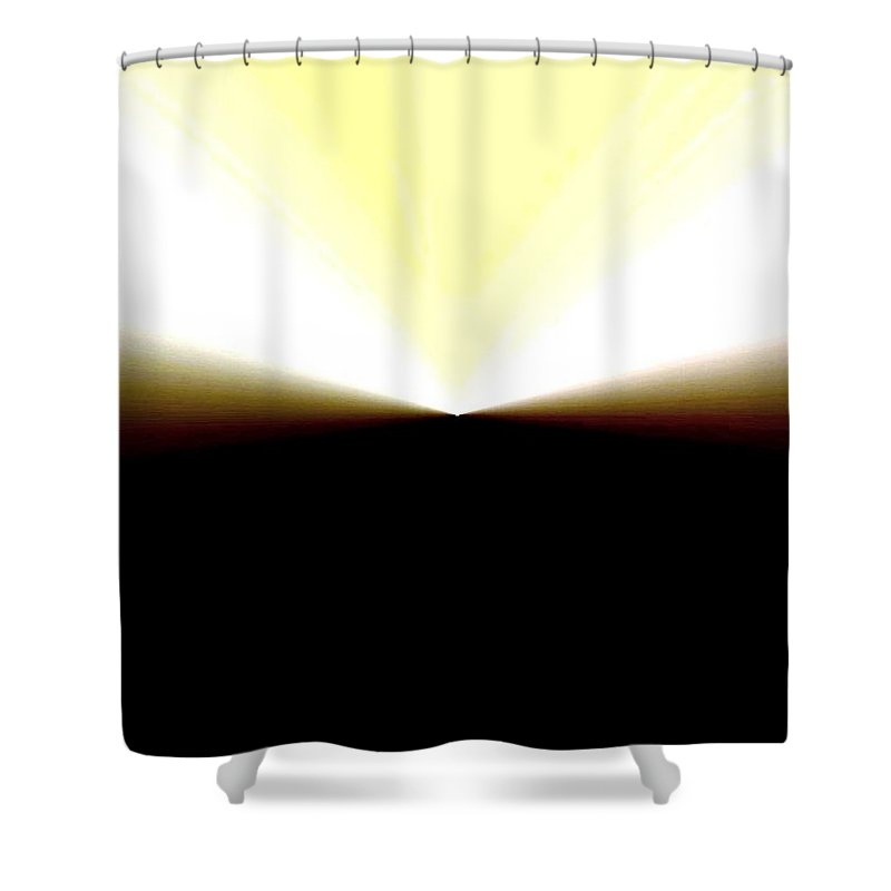 Abstract Shower Curtain featuring the digital art Radiation by Will Borden