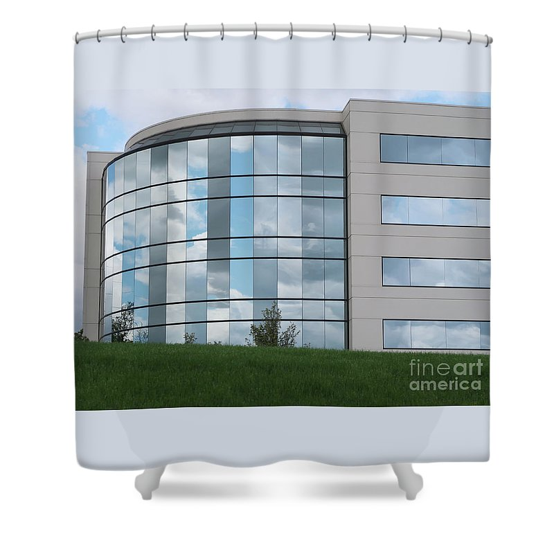 Windows Shower Curtain featuring the photograph Reflecting Change by Ann Horn