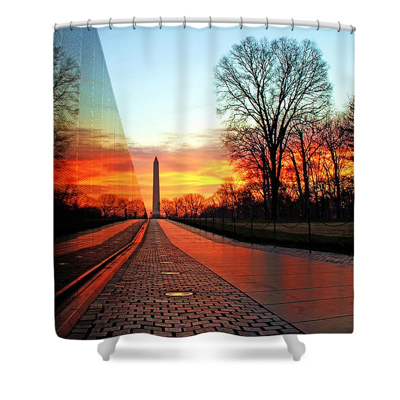 Washington Monument Shower Curtains
