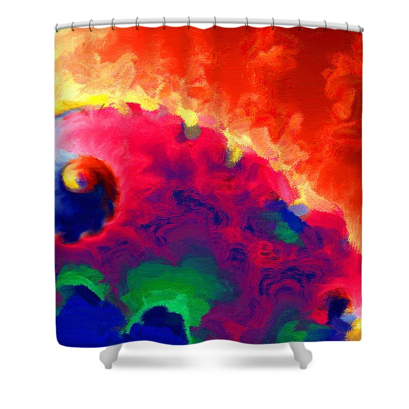 War Shower Curtain featuring the digital art Revolution by Stephen Younts