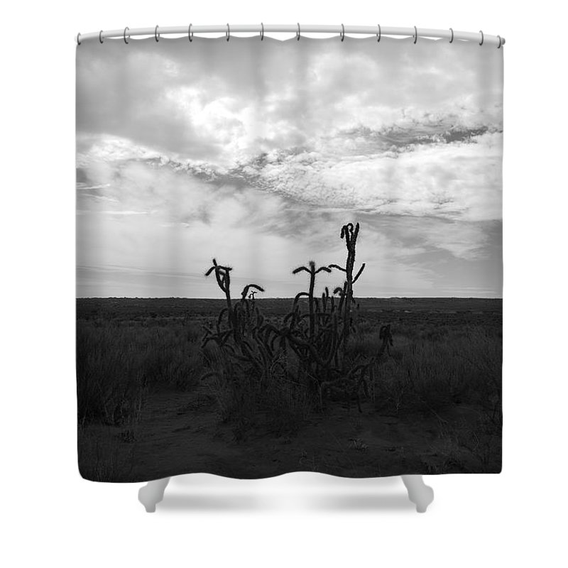 Black And White Shower Curtain featuring the photograph Rio Rancho by Rob Hans