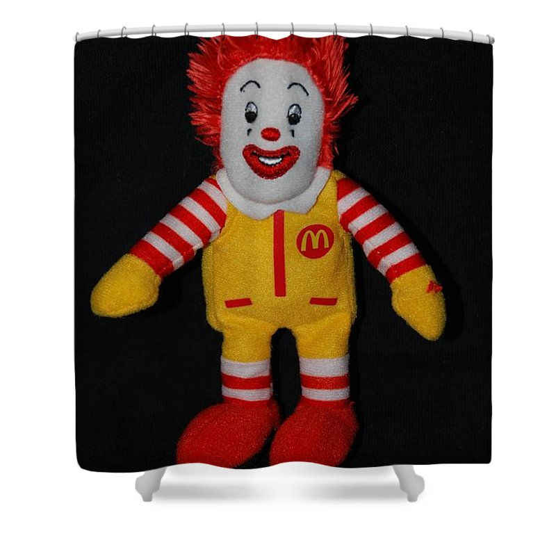 Ronald Mcdonald Shower Curtain featuring the photograph Ronald Mcdonald by Rob Hans