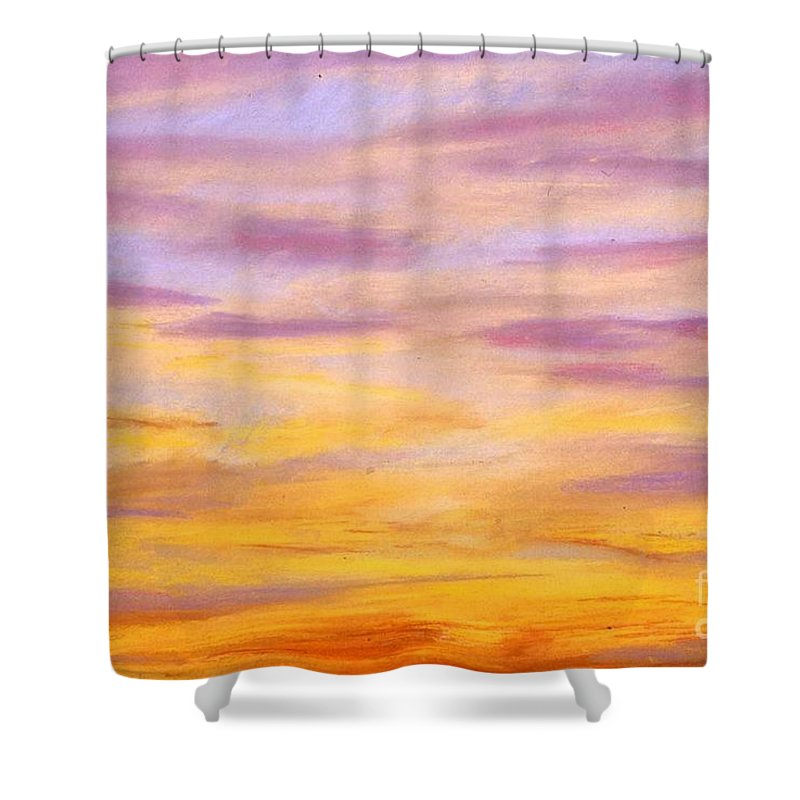 Skyscape Shower Curtain featuring the painting Rowlett Sky by Mary Erbert