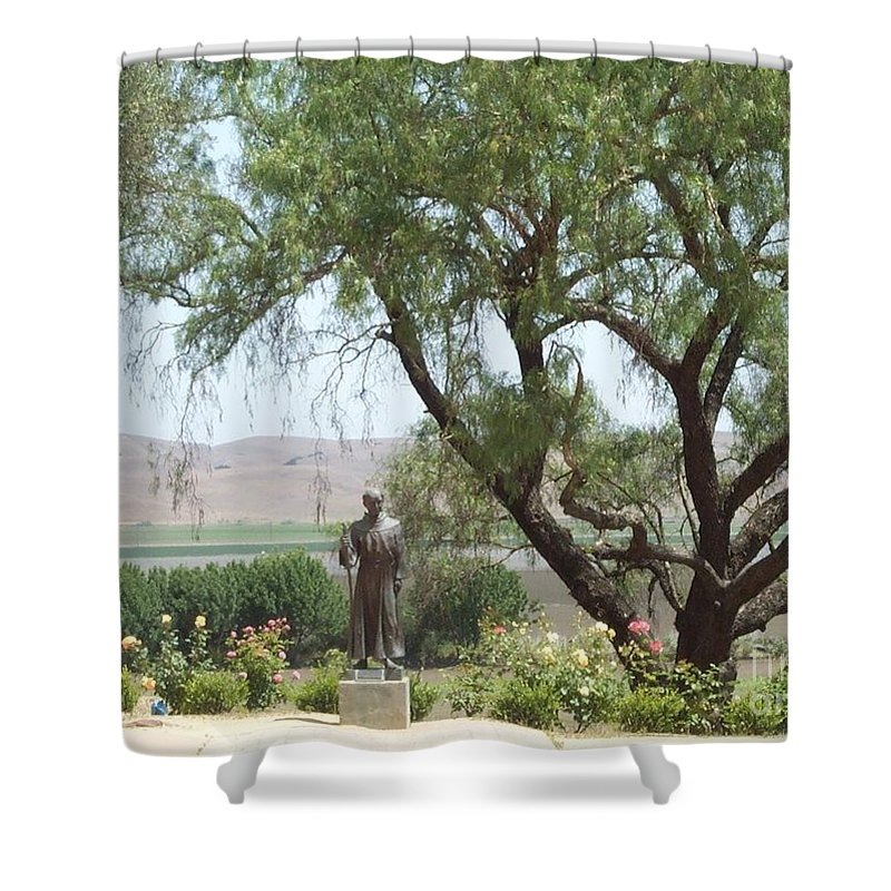 Mission Shower Curtain featuring the photograph Mission San Juan by Jeanie Watson