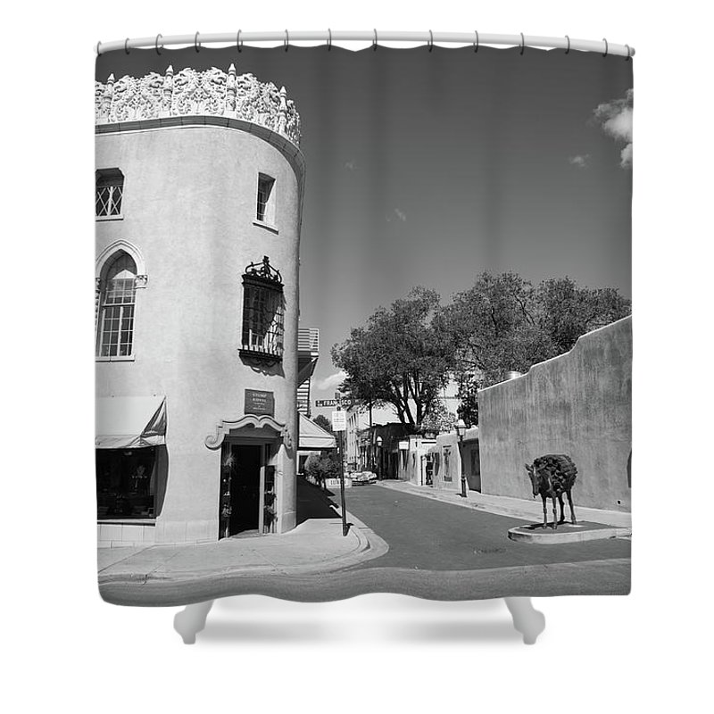 Adobe Shower Curtain featuring the photograph Santa Fe New Mexico by Frank Romeo