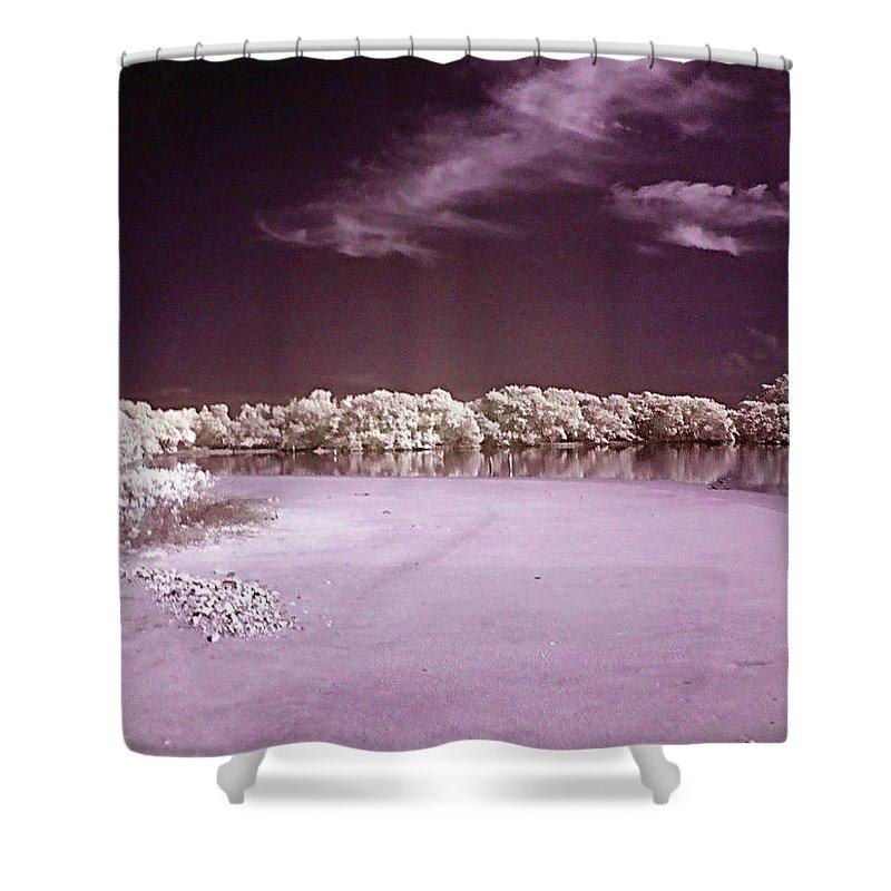 Landscape Shower Curtain featuring the photograph Seascape by Galeria Trompiz