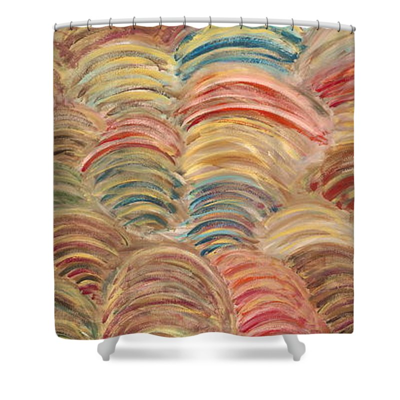 Sea Shower Curtain featuring the painting Seaside by Nadine Rippelmeyer