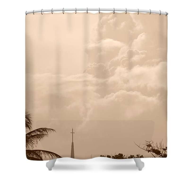 Sepia Shower Curtain featuring the photograph Sepia Sky by Rob Hans