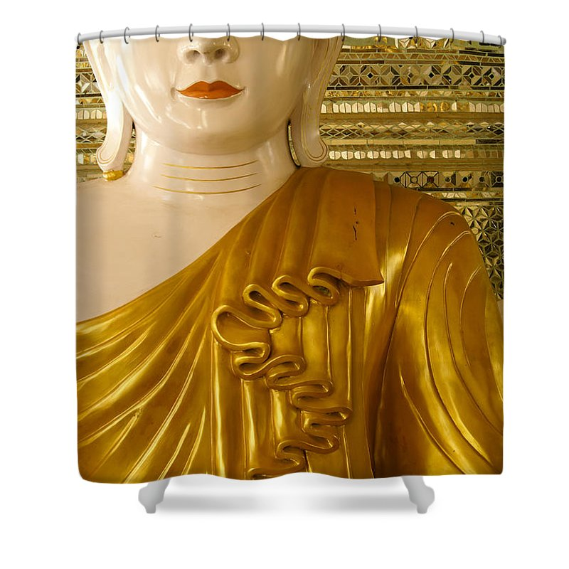 Buddha Shower Curtain featuring the photograph Serenity by Michele Burgess
