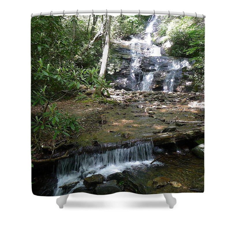 Nc Forests Shower Curtain featuring the photograph Set Rock Creek Falls by Joel Deutsch